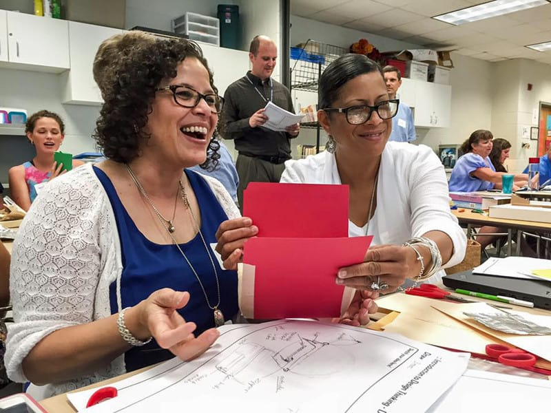 Educators collaborating